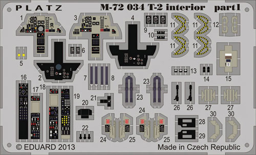 PLATZ 1/72 JASDF T-2 interior part1/part2