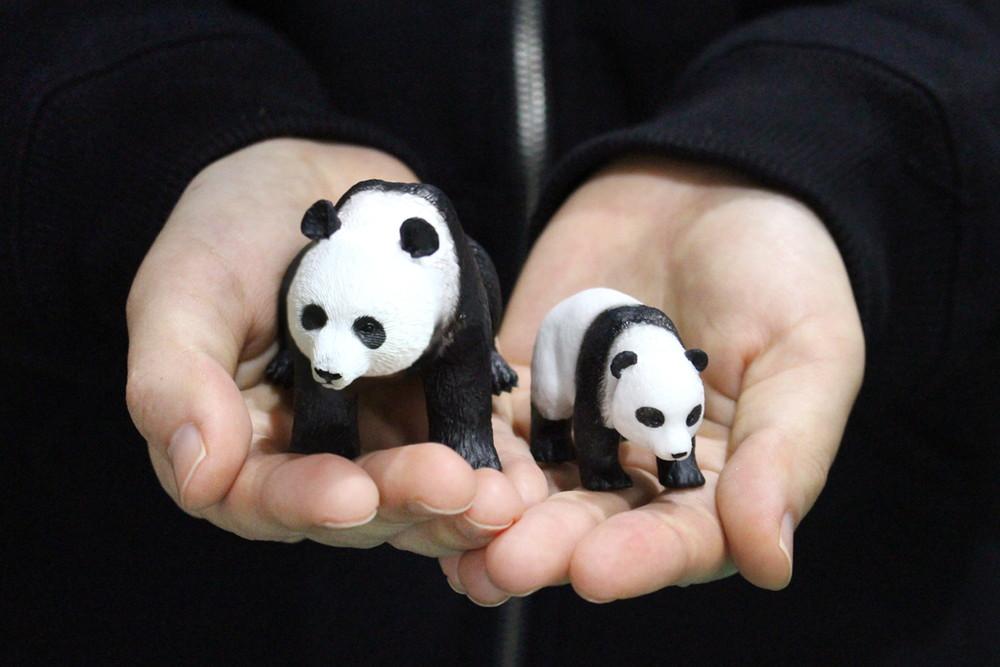 プラッツ/MOJO My Little Zoo -ぼくの わたしの てのひら動物園- SPECIAL パンダ親子セット - ウインドウを閉じる