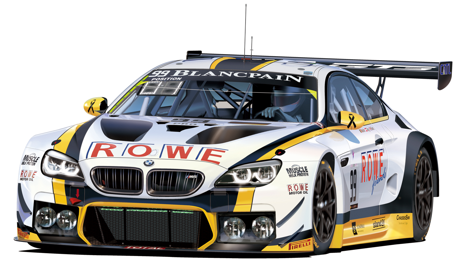 PLATZ Detail up parts for 1/24 BMW M6 GT3 (PN24001)