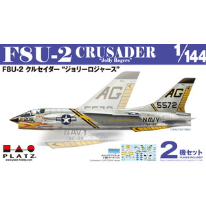 "PLATZ 1/144 F8U-2 CRUSADER ""Jolly Rogers"" (2 kits in one box)"