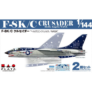 "PLATZ 1/144 F-8K/C Crusader ""Hells Angels / NASA"" (2 kits)"