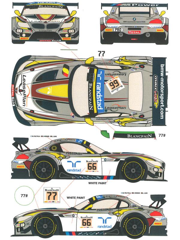 レーシングデカール43 1 24 Bmw Z4 Gt3 Marc Vdsレーシング カーno 66 77 2014年スパ24時間 Rde24009 5 616円 プラモデル・模型