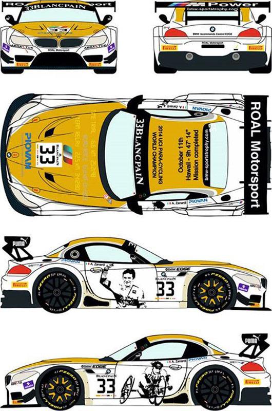 レーシングデカール43 1 24 Bmw Z4 Gt3 ロアル・レーシング 2014 ブランパン・スプリント